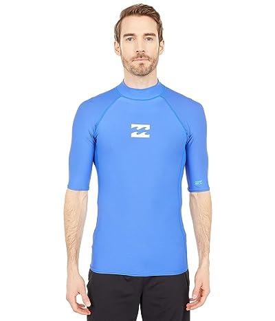 Billabong All Day Wave Performance Fit Short Sleeve Rashguard (Cobalt) Men