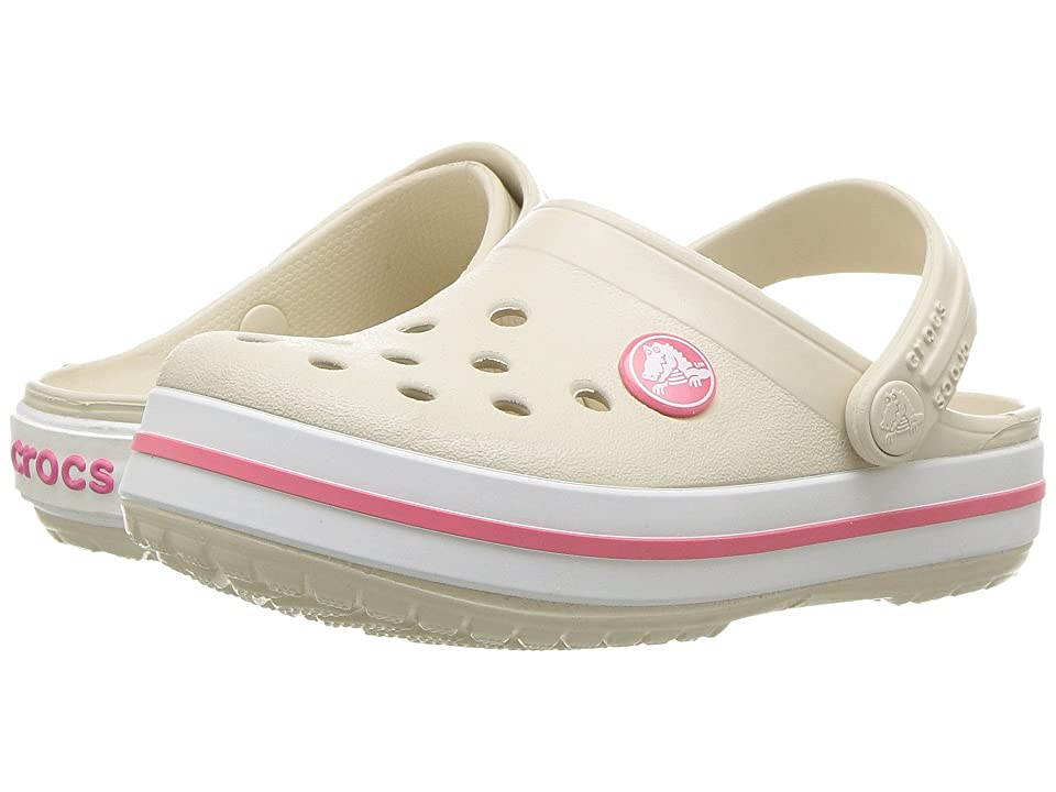 Crocs Kids Crocband Clog (Toddler/Little Kid) (Stucco/Melon) Kids Shoes