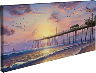 Thomas Kinkade Footprints in the Sand 16 x 31 Gallery Wrapped Canvas