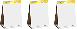 Post-it Super Sticky Tabletop Easel Pad, 20 x 23 inches, 20 Sheets/Pad, 1 Pad , Portable White Premium Self Stick Flip Chart Paper, Dry Erase Panel, Built-in Easel Stand