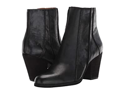 Frye Essa Seam Bootie (Black Leather) Women