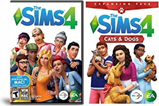 The Sims 4 Cats & Dogs Expansion Bundled With The Sims 4 PC Mac Base Game: PC DVD / Mac Download