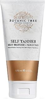 Botanic Tree Self Tanner-Organic Sunless Tanner for Natural-Looking Fake Tan-Herbal Self Tanning Lotion for Flawless Bronz...