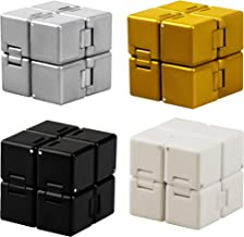 Cotiny 4 Pack Infinity Cube Fidget Toys Infinity Cube Prime for Stress and Anxiety Relief Sensory Tool Fidget Blocks for C...