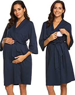 Maternity Robe, Labor Delivery Hospital Gown Nursing Nightgowns Bathrobe