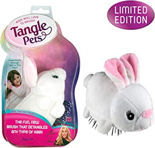 Tangle Pets BOPPITY THE BUNNY- The Detangling Brush in a Plush, Great for Any Hair Type, Removable Plush, As Seen on Shark Tank