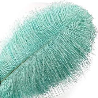 WXJ 10/200pcs Green Autruche Plumes pour Artisanat Plumas Decorativas Bijoux Faire des vêtements de Mariage (Color : 40-45...