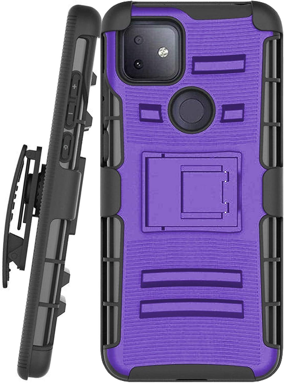 DALUX Hybrid Kickstand Holster Phone Case Compatible with T-Mobile REVVL 4 Plus/REVVL 4+ (2020) - Purple