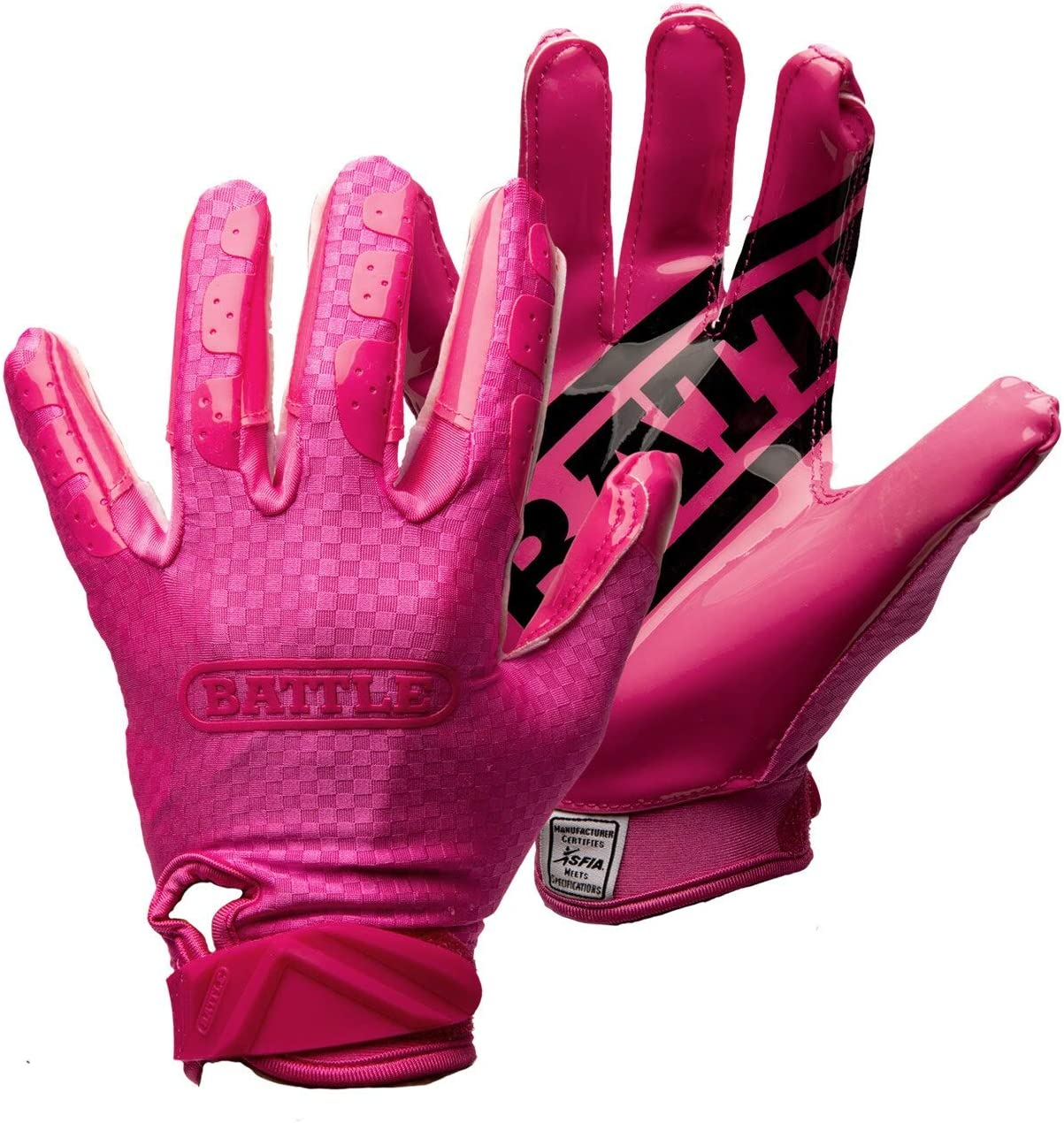 Battle Triple Threat Adult Receiver Gloves : Sports & Outdoors