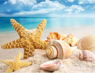 Fipart 5D DIY Diamond Painting Cross Stitch Craft Kit Wall Stickers for Living Room Decoration(12X16inch/30X40CM)starfish