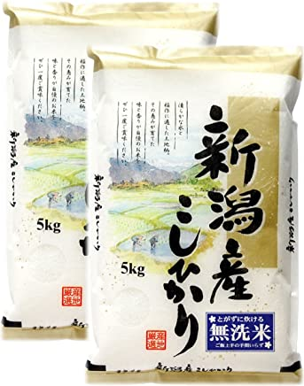 【無洗米】 新潟県産 コシヒカリ 平成30年産 10kg(5㎏×2袋)