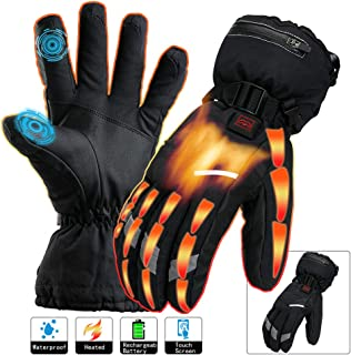 Heated Gloves Men Women Electric Rechargeable Battery Touchscreen Thermal Heat Gloves Kit,Warm Winter Hunt Fish Cycle Motorcycle Drive Camp Ski Hike Outdoor Sport Hand Warmer