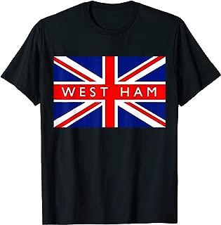 West Ham British Flag Vintage Retro Souvenir T-Shirt