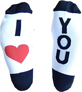 Compression Socks (1 Pair) for Women & Men by Wave (I Love You, L/XL)