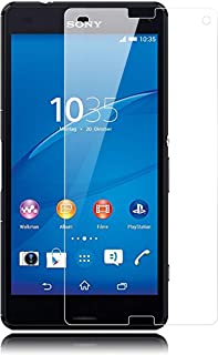 Malaina SONY ソニー Z3 Compact/Xperia A4 液晶保護フィルム ガラスフィルム 0.26mm薄さ 9H硬度 透明性99% 気泡ゼロ 指紋防止【SO-02G / SO-04G】(2枚入り)