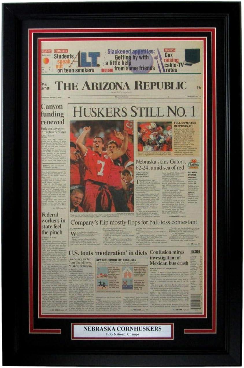 Nebraska 1995 National Champs The Arizona Republic Cheap super special Ranking TOP1 price Fra Newspaper