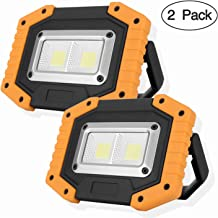 OTYTY 2 COB 30W 1500LM LED Work Light, Rechargeable Portable Waterproof LED Flood Lights..