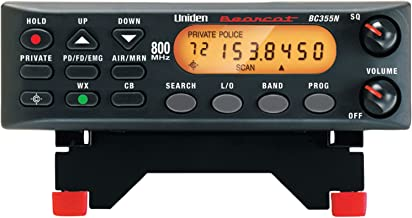 """Uniden BC355N 800 MHz 300-Channel Base/Mobile Scanner. Close Call RF Capture Technology. Pre-programmed Service Search. """"Action"""" Bands to Hear Police, Ambulance, Fire, Amateur Radio, Public Utilities, Weather, and More., Black, One Size"""