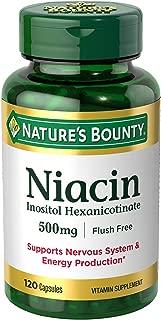 Natures Bounty Niacin Flush Free 500 mg
