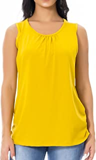 Smallshow Women's Maternity Nursing Tank Top Sleeveless Comfy Breastfeeding Clothes