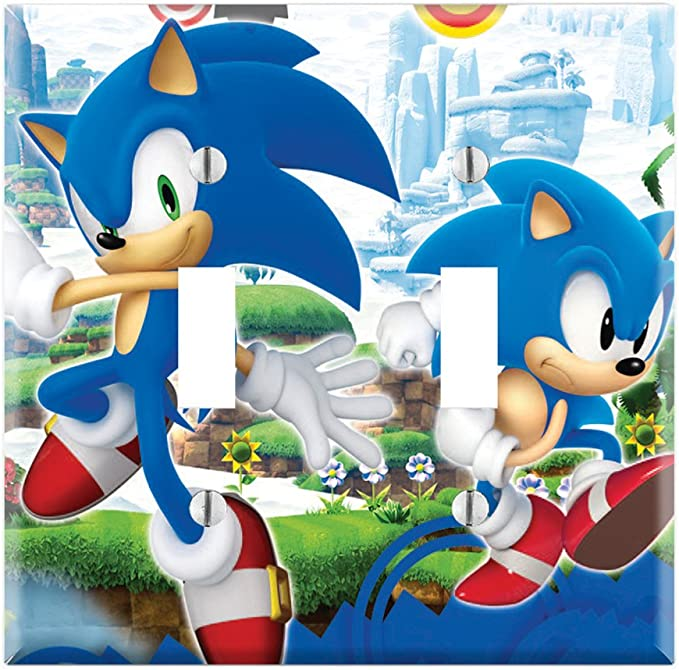 Dual Toggle Wall Switch Cover Plate Decor Wallplate Sonic Generations The Hedgehog