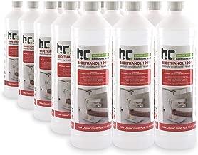 15 x 1 L Bioéthanol Premium 100% pour cheminée - FRAIS DE PORT OFFERT - Bouteilles de 1 L pour la sécurité maison