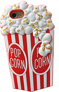 Cartoon iPhone 8 Case/iPhone 7 Case Pop Corn 3D (4.7 Inch) & 6 6S - Unique Designed TPU Rubber 3D Fashion Funny Cool Cases Cover Popcorn (White Red)