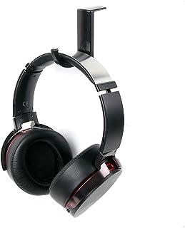 DURAGADGET Soporte/Gancho Negro para Auriculares Sony MDR-ZX610 / MDR-ZX660AP / Plantronics GameCom 388/788 / con Adhesivo fijador