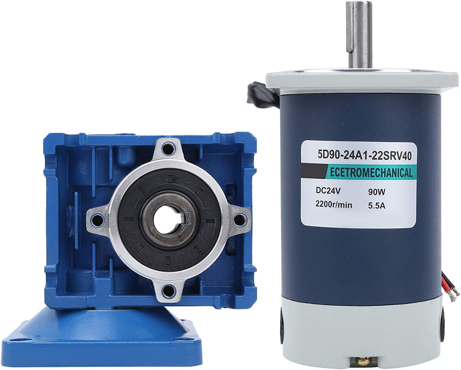 DC 12V 24V Worm Geared Motor 90W 2200 Stainless Steel A surprise price is realized Gear Philadelphia Mall