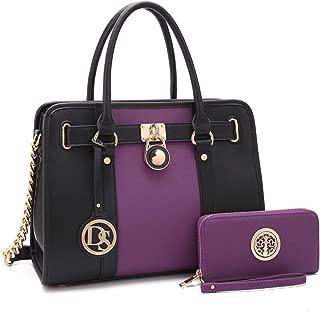 Women's Fashion Handbags Shoulder Bag Satchel Purse Tote Top Handle Work Bag 2pcs Set for Ladies Women
