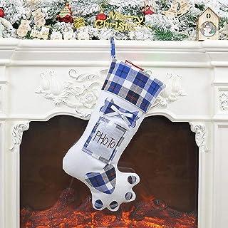 New Creative Dog Paw Christmas Tree Pendant Christmas Socks Gift Bag