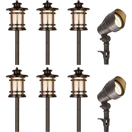 Landscape Stake Lights w//Transformer /& Remote GreenLighting 6 Pack 100 Lumen Low Voltage Multi-Color LED Pathway Light Kit