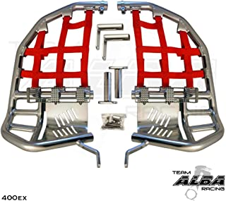 TRX 400EX SPORTRAX (1999-2014) Propeg Nerf Bars - Compatible with Honda - Silver Bars w/Red Net