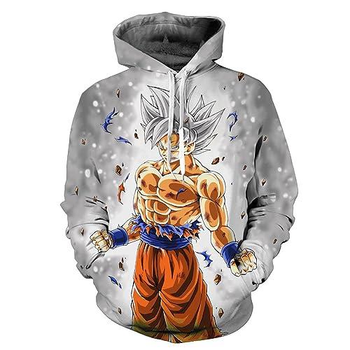 Yangxinyuan Unisex Hoodies Dragon Ball Z Goku 3D Print Pullover Sportswear Sweatshirt Tops