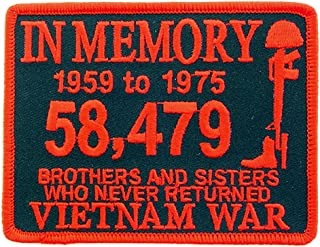 Vietnam War In Memory Patch Brothers and Sisters Who Never Returned