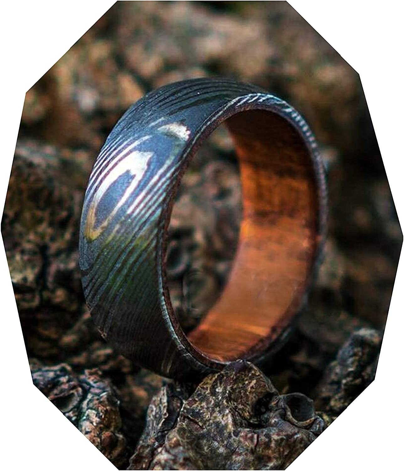 Damascus KE-224-AT Steel Clearance SALE! Limited time! Ring Custom Har and Handmade Super beauty product restock quality top