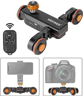 Neewer Motoriserad kamera video Dolly med skala indikation elektrisk spårskatare med rak linje/kurva/tonhöjdsfotografering...