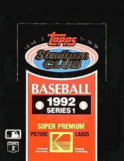 Topps 1992 Stadium Club Baseball Series 1 Unopened Box