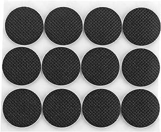 Tenn Well 家具保護パッド, 48pcs天然ゴム 丸い すべり止めパッド (ブラック)