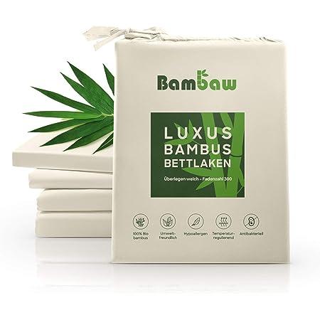 atmungsaktiv Utopia Bettw/äsche Premium 340 GSM 100/% wasserdicht Bambus-Matratzenschutz 135 x 190 cm Matratzenh/ülle rundum elastische Passform
