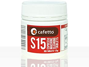 Cafetto S15 High Performance Espresso Machine Cleaning Tablets (100 Count Tablets Jar)