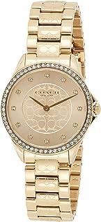 Coach Womens Quartz Wrist Watch, Gold Stainless Steel - 14503504