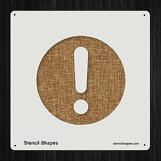 Exclamation Mark Warn Point Danger, Style 9758 DIY Plastic Stencil Acrylic Mylar Reusable