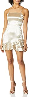BB DAKOTA womens flawless metallic ruffle dress Dress