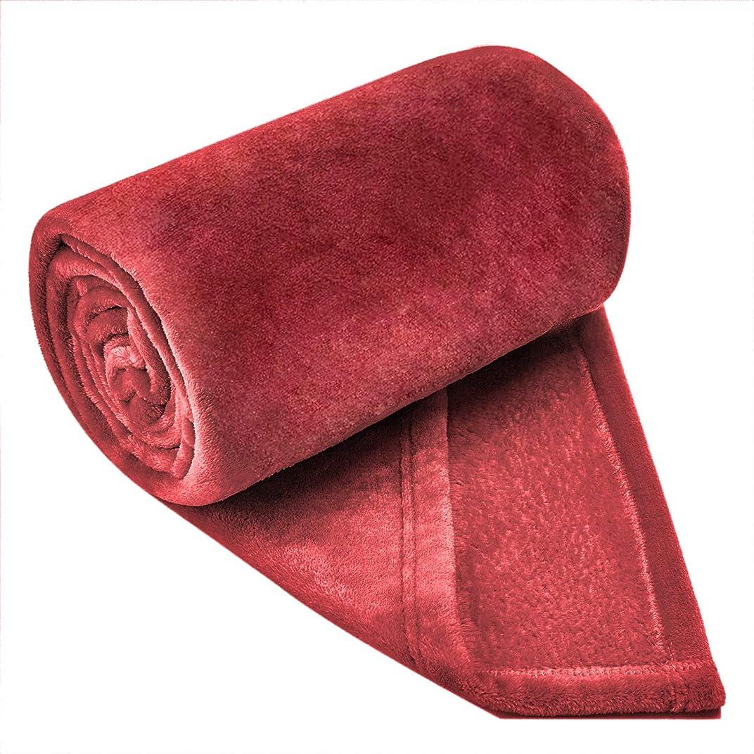 たるみ本物の最大Softan毛布 シングル 人気 おしゃれ毛布 フランネル ブランケット プレミアムマイクロファイバー 軽い 暖かい 柔らかい 肌触りにやさしい 180X200cm レッド