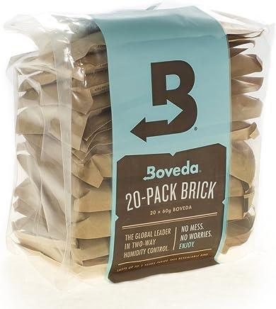 Boveda Bulk 20 片装砖双路湿度控制 牛皮纸 60 gram B72-60-20P