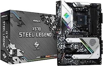 ASRock AM4/X570 Steel Legend/4DDR4/HDMI/DP/R45 Motherboard