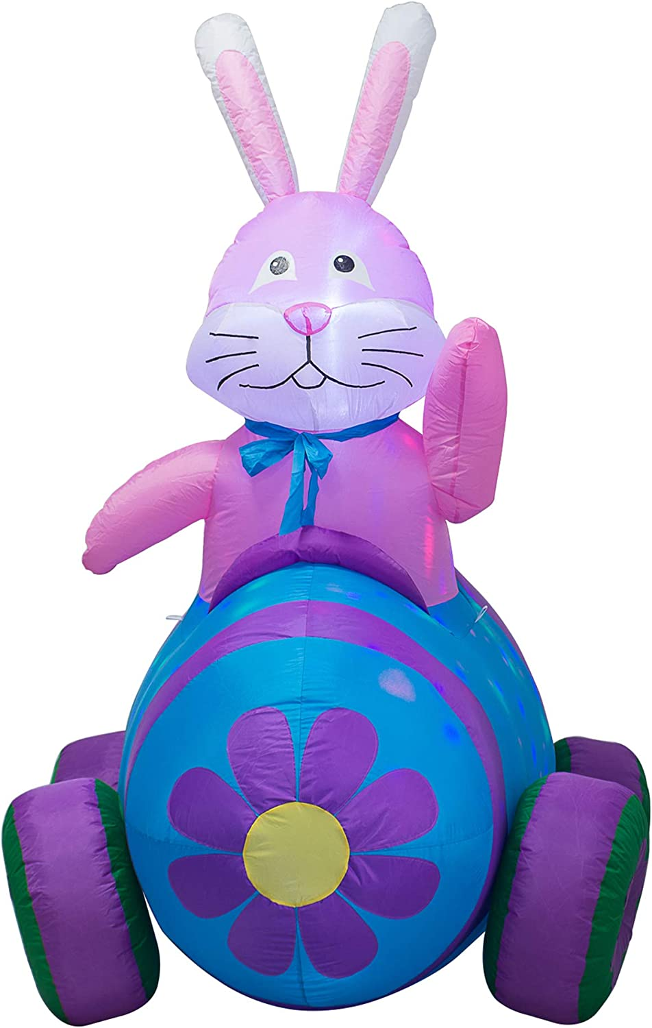 Max 63% OFF Import AJY 6 Feet Happy Easter Bunny Inflatable Ind Driving Blow Car Up