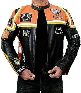 Chaqueta de piel para hombre de motociclista/jinete Don Johnson Harley Davidson