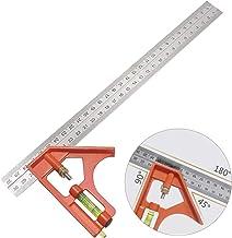 Gradenboog van roestvrij staal, combinatiehoek, parallelle liniaal voor elke timmermanshoek, liniaal van roestvrij staal, ...